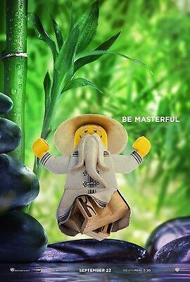 The Lego Ninjago Movie Poster - Be Masterful Jackie Chan v8 Master Wu 24x36