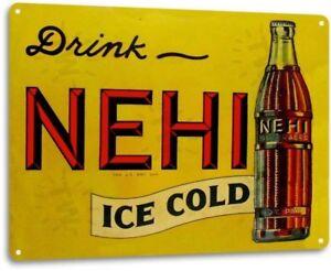 NEHI-Cola-Metal-Decor-Wall-Art-Shop-Kitchen-Soda-Bar-Cave-Sign