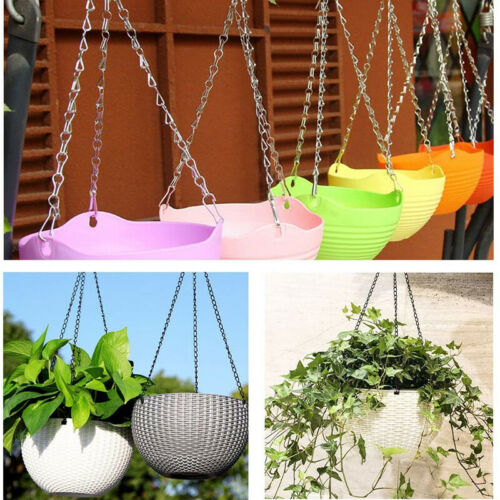 Flowerpot Hanging Chain Iron Plant Replacement Basket Chain with Hook Decor FM