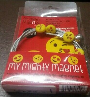 """Mishu Mighty Magnet Hanging 57/"""" Long Photo Cable with White Diamond Magnets NEW"""