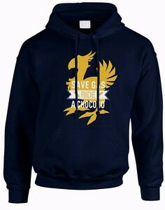 Save-Gas-Ride-A-Chocobo-Final-Fantasy-XV-Funny-Pullover-Gaming-Unisex-Hoodie