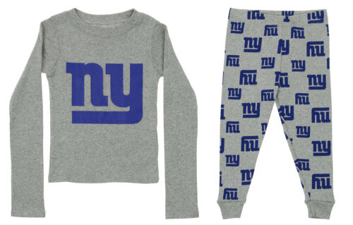 OuterStuff NFL Toddlers New York Giants Long Sleeve Tee and Pant Sleep Set