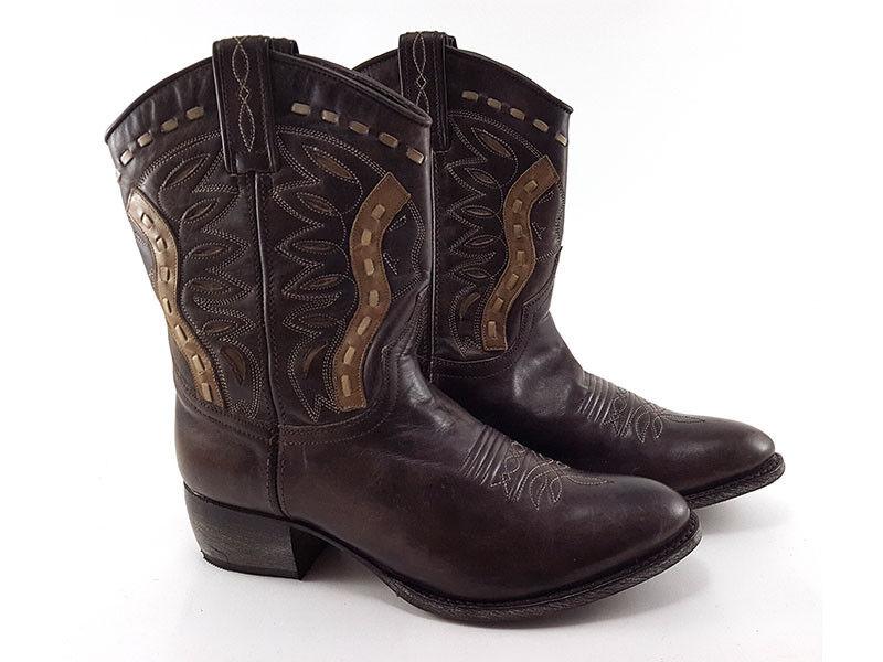 SENDRA Marronee Leather Embroiderosso stivali, donna's scarpe Dimensione US 9   EU 39