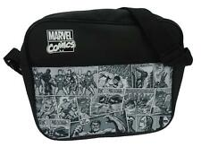 Marvel Comics Comic Strip Black & White Messenger Courier Bag New Official