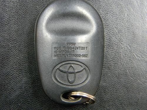 TOYOTA KEYLESS ENTRY REMOTE FOB GQ43VT20T 1470A-1T VTR5002-562
