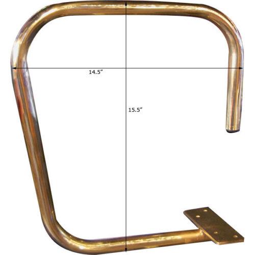 "Bar Wait Station Service Bar Rail Single Arm Screw Mount 1/"" OD Solid Brass"