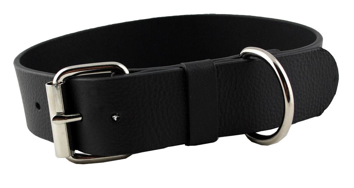 westernspeicher cuoio di nastro del collo cane Schwarz Größe 40  46cm
