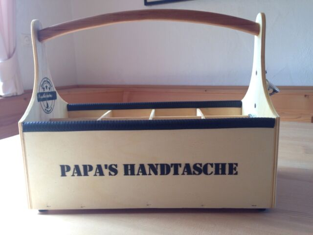 Flaschenträger Holz Bierträger Kiste Geburtstag Geschenk Flaschenkorb Vintage