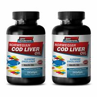 Vitamin A Liquid - Norwegian Cod Liver Oil 600mg - Metabolism Boost Softgel 2b