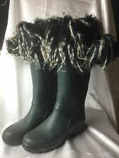 LUXURY FAUX FUR WELLINGTON BOOTS CUFFS FOR HUNTER AIGLE WELLIES RRP £29!