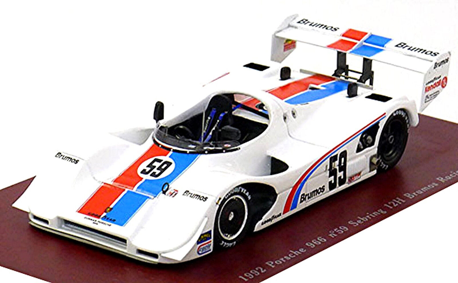 Porsche 966 Brumos Racing 12H Sebring 1992  43 True Scale