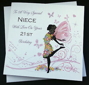 Handmade birthday card sister niece auntie daughter 16th 18th 21st image is loading handmade birthday card sister niece auntie daughter 16th bookmarktalkfo