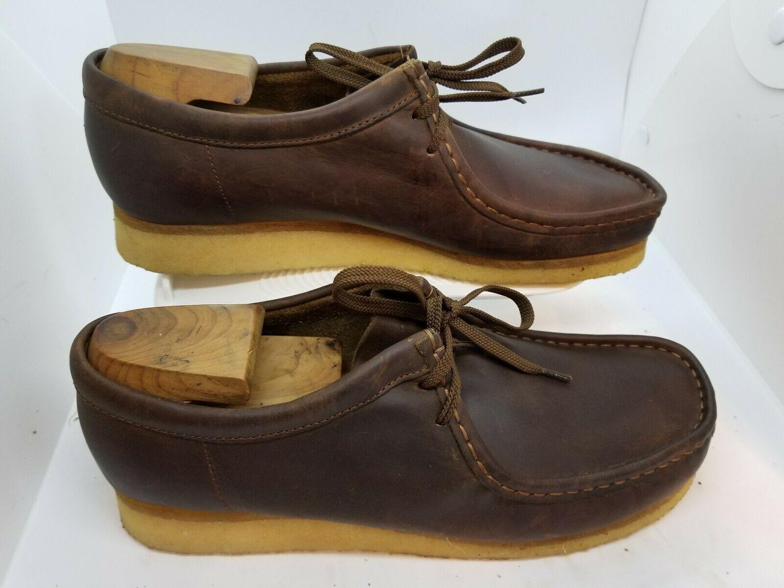 Rare Vestido Magnanni 37989 Hombres cuero marrón suela de crepé hombres natural zapatos talla 10.5