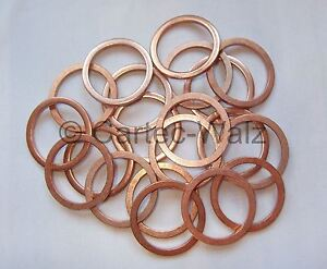 Dichtringe aus Kupfer  10x14x1 mm 50 Stück