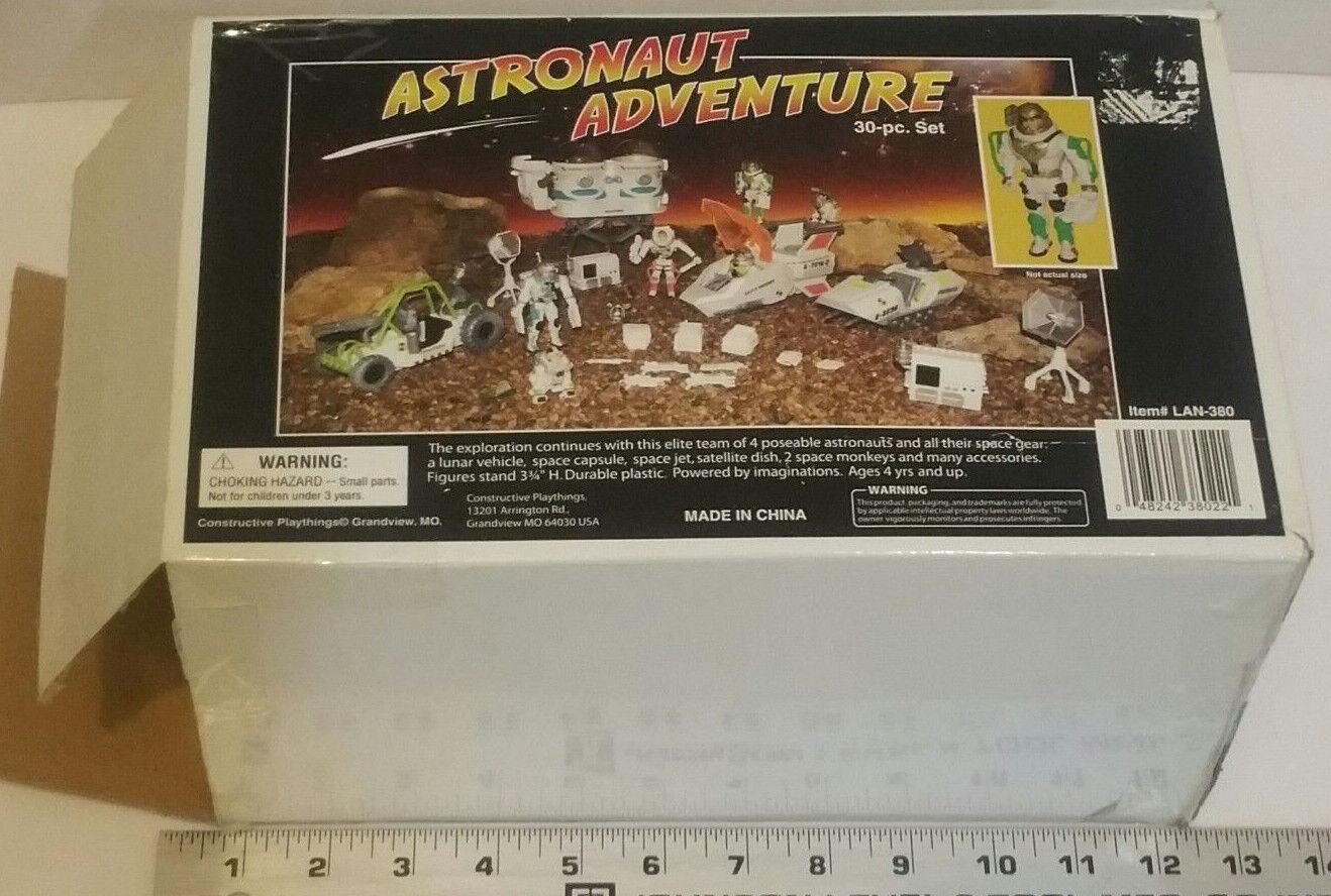 Constructive Playthings LAN-380 Astronaut Adventure Set Space Monkeys Vehicles