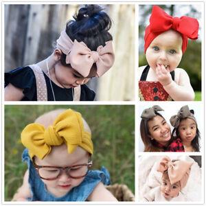 Newborn Baby Bow Knot Hairband Girls Kids Wide Headband DIY Hair Band Headwrap