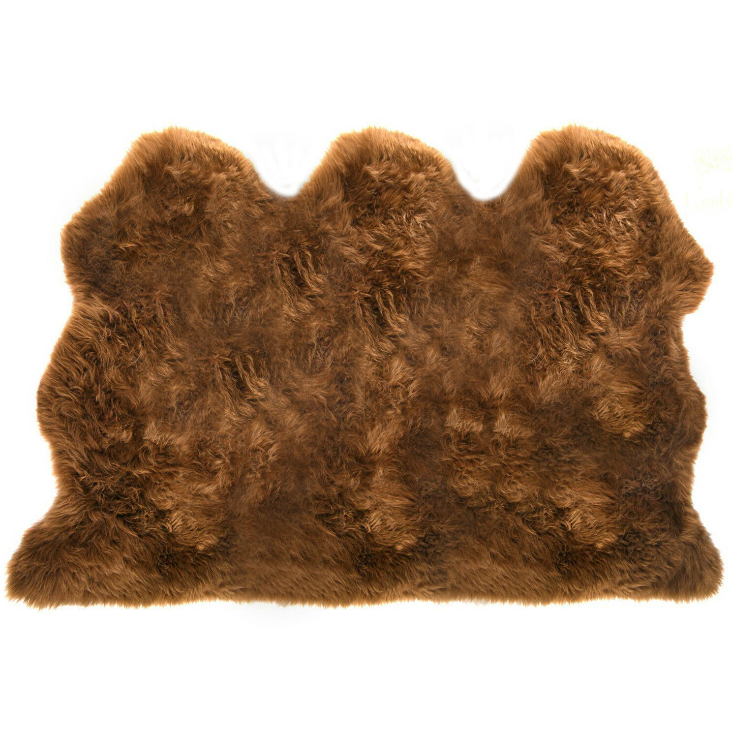 Extra Large Super Soft Triple Genuine UK Made Sheepskin Rug Hide Pelt braun