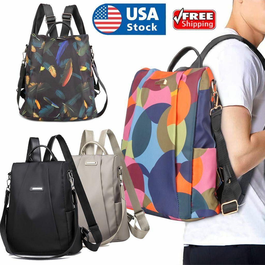 Anti-Theft Women Backpack Travel Hand Shoulder School Bag Satchel Rucksack Large