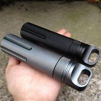 Edc Gear Grade Iii Hard Mini Waterproof Tank Medicine Pill Bottle Outdoor Traver