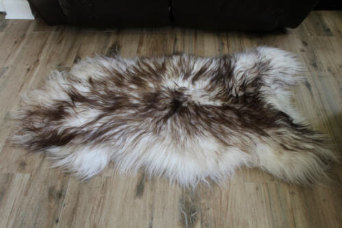 Genuine Icelandic Sheepskin Rug Throw shade of brown