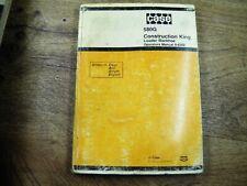 Case 580g Construction King Loader Backhoe Operators Manual