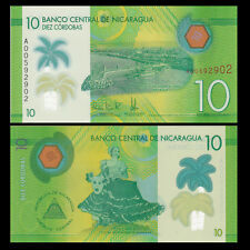 Nicaragua - 10 Cordobas - UNC Polymer note - 2015 issue