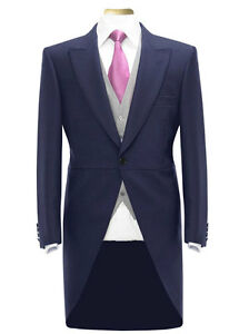MENS-BOYS-TAIL-COAT-NAVY-BLUE-TAILCOAT-TAILS-WEDDING-RACES-PROM-MORNING-SUIT
