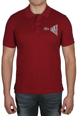 Lacoste Men/'s Polo Shirt Short Sleeve Regular Fit PH3250-51 U0D Burgundy
