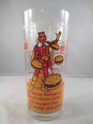 1978 Marvelous Magical RARE French Fries Glass C Burger King