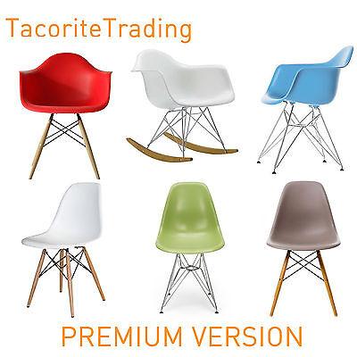 PREMIUM VERSION 8 COLOUR Charles Eames Eiffel Retro Dining Chair Modern Armchair