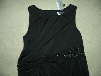 $130 Js Boutique Pea In The Pod Maternity Black Sequins Sleeveless Dress L