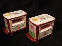 Vintage...Ceramic...Napco....Flowered  Heaters...Salt & Pepper Shakers.....Japan