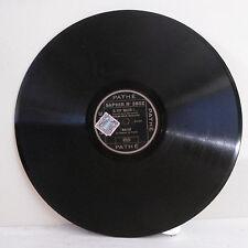 78T SAPHIR - BACH Disque Phonographe FAUT BIEN RIRE Monologue PATHE 3802 RARE