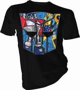 Transformers Cartoon Group Optimus Prime Bumble Bee T-Shirt