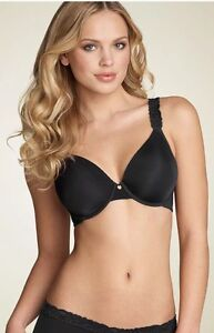 d5aa8461ef146 Natori 736037 Body Doubles with Lace Full Coverage Contour Bra Black ...