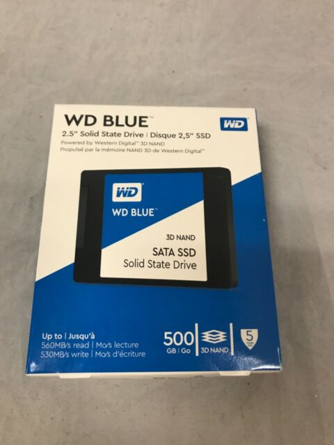 WD - Blue 500GB Internal SATA Solid State Drive