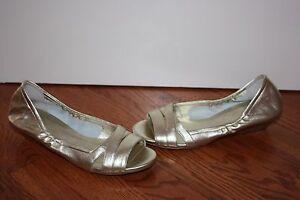 cole haan open toe flats