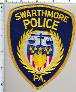 Swarthmore Police (Pennsylvania) Uniform Take-Off Shoulder Patch from 1993