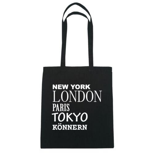 London Farbe: schwarz Tokyo KÖNNERN Paris New York Jutebeutel Tasche