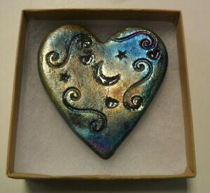 Raku-Pottery-Heart-By-Artist-Jeremy-Diller