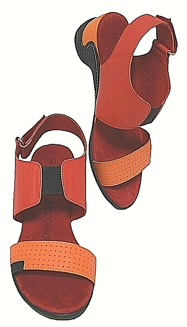 TS shoes TAKING SHAPE 11   42 Ginny Leather Sandal low wedge wide fit comfy NIB