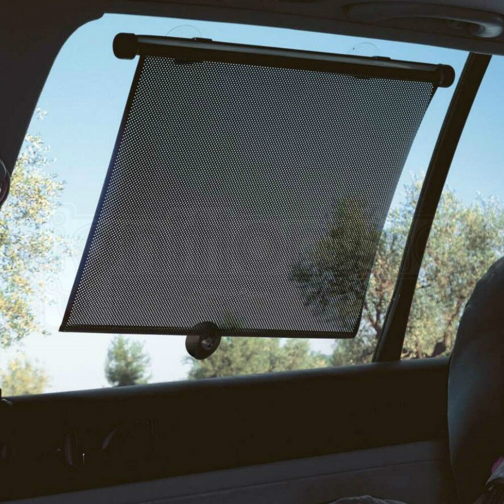 2 x CAR WINDOW SUN BLOCK SHADE AUTO ROLLER BLINDS SCREEN PROTECTOR PROTECTION UK