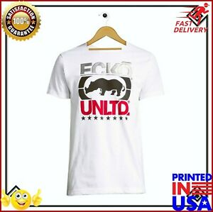 Nwt-Ecko-Unltd-Authentic-Men-039-s-Short-Sleeve-Graphic-White-T-Shirt