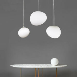 Gl Pendant Lamp Nordic Pebble Light