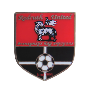 Redruth United Football Club Pin Badge - Official Merchandise