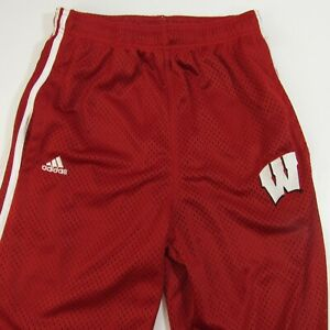 Wisconsin-Badgers-Adidas-Mesh-Athletic-Pants-Youth-L-14-16-Large-Basketball