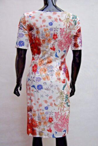 MARKS /& SPENCER PER UNA IVORY MULTI COLOUR FLORAL DRAPE SHIFT DRESS Sizes 12,20