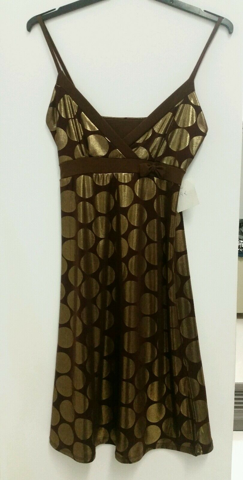 Dress gold  brown fiesta size one (small) woman woman REF.1