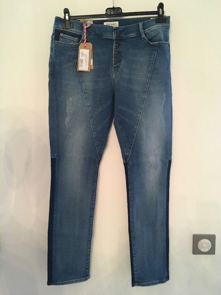 Jeans Femme Lee Cooper JAXY 6921 Mix bluee Brushed blue