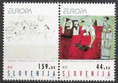 RüCksichtsvoll Slowenien Nr.48/49 ** Europa Postfrisch Einfach Zu Verwenden Cept 1993